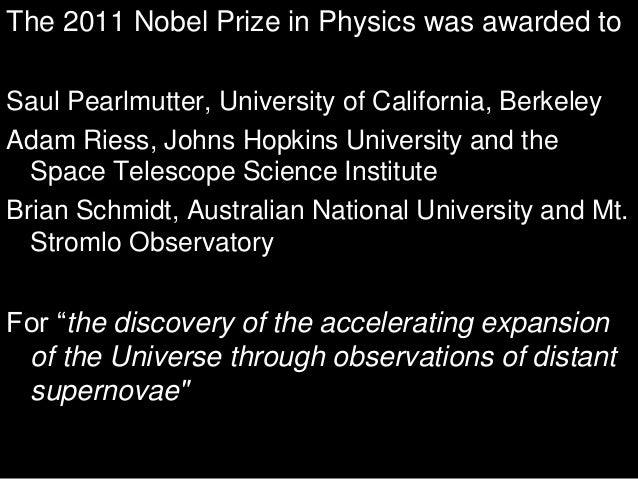 Exploding stars 2011 Nobel Prize in Physics