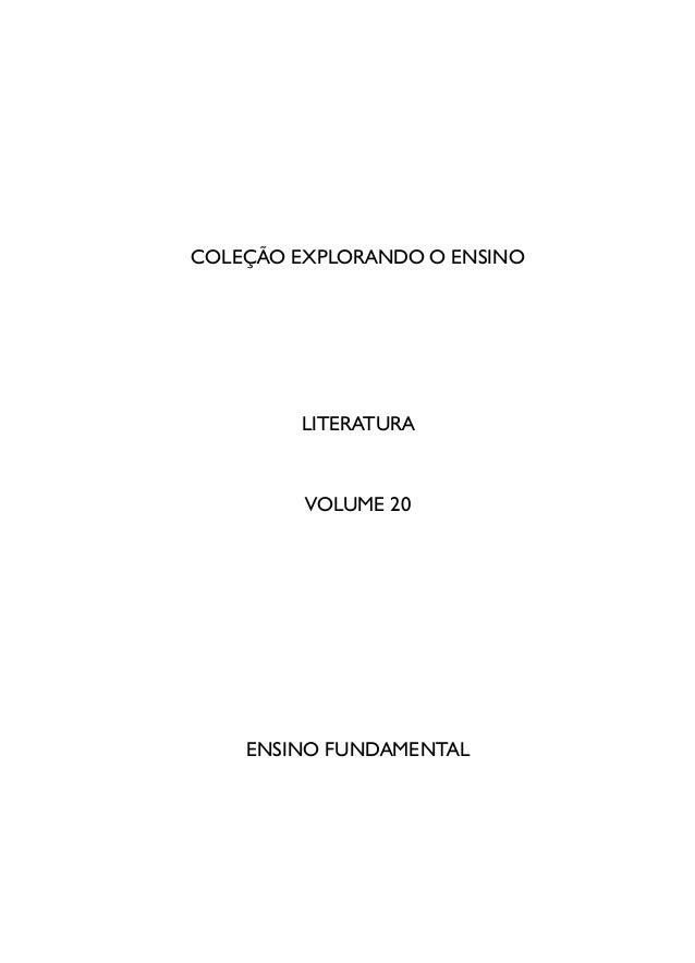 COLEÇÃO EXPLORANDO O ENSINO LITERATURA VOLUME 20 ENSINO FUNDAMENTAL