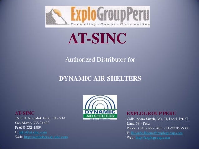 AT-SINC                                 Authorized Distributor for                             DYNAMIC AIR SHELTERSAT-SINC...