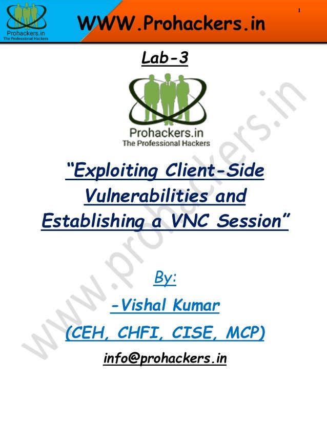 Exploiting Client-Side Vulnerabilities and Establishing a VNC Session