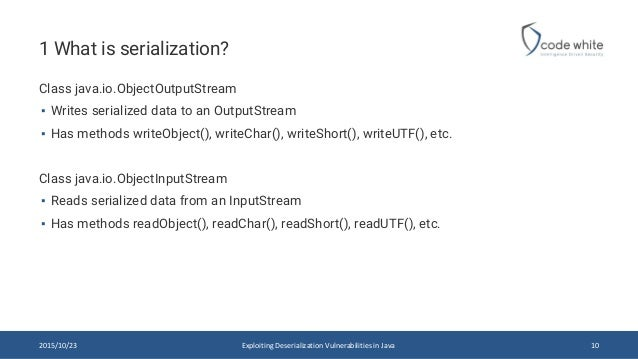 Exploiting Deserialization Vulnerabilities in Java
