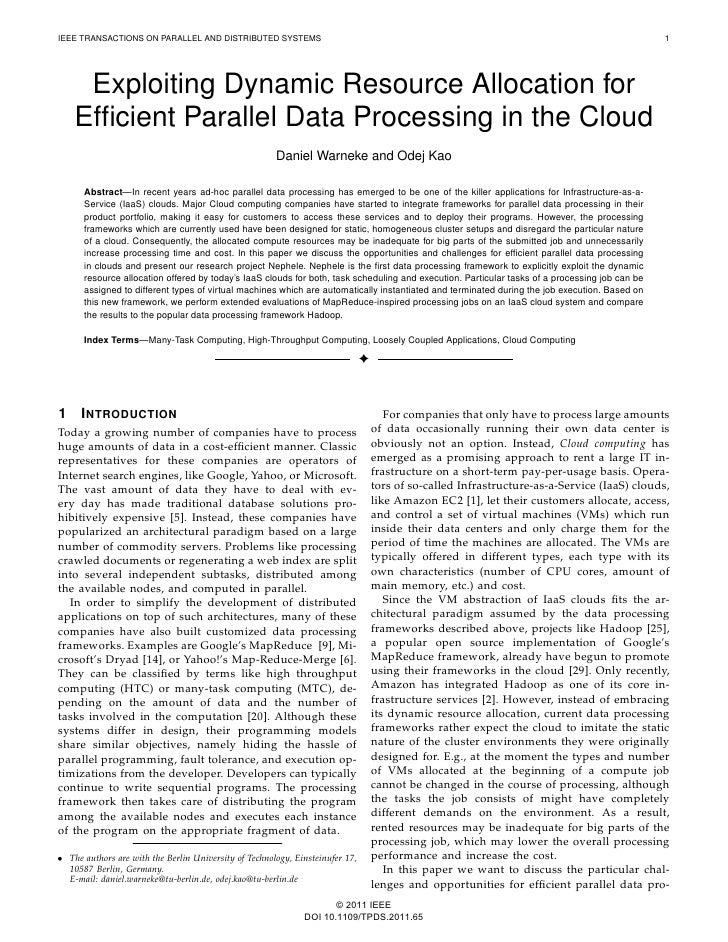 IEEE TRANSACTIONS ON PARALLEL AND DISTRIBUTED SYSTEMS                                                                     ...