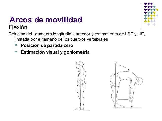Exploración de columna lumbar