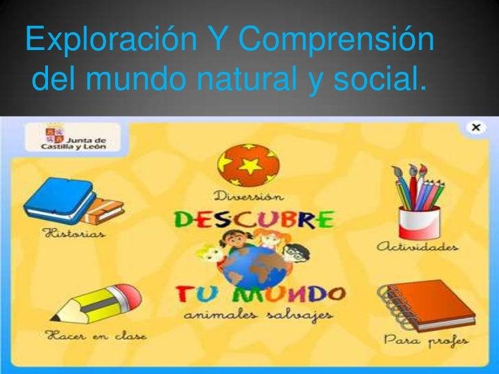 Exploración Y Comprensióndel mundo natural y social.