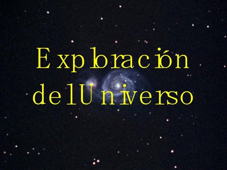 Exploración del Universo