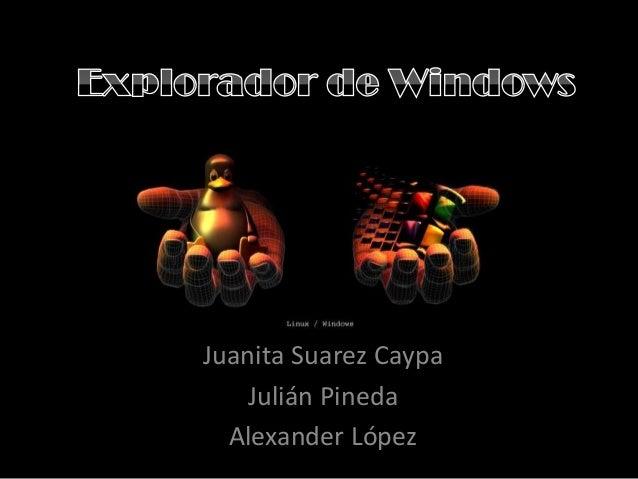 Juanita Suarez CaypaJulián PinedaAlexander López