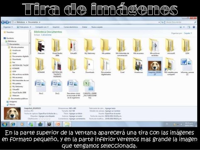 • Los archivos aparecen representados por unicono como en el caso anterior pero máspequeños. El único dato que aparece jun...