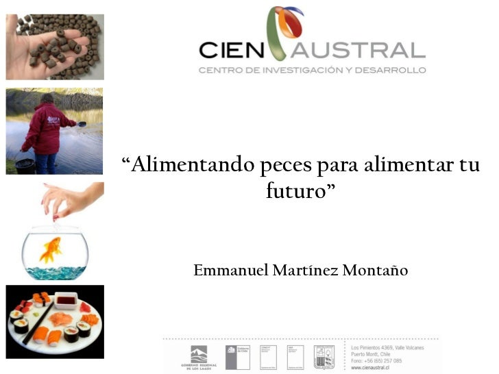 """""""Alimentando peces para alimentar tu             futuro""""       Emmanuel Martínez Montaño"""