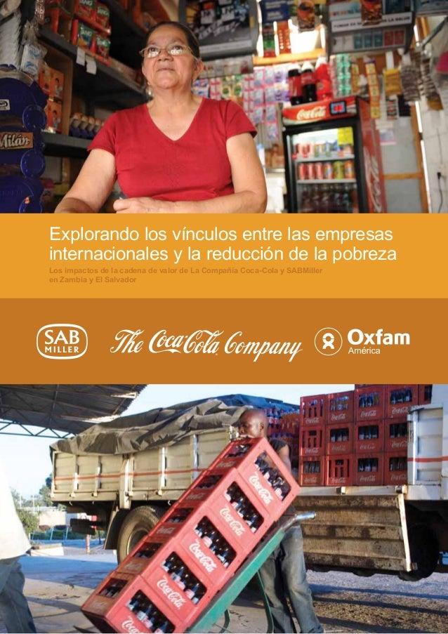 Explorando los vínculos entre las empresas  internacionales y la reducción de la pobreza  Los impactos de la cadena de val...