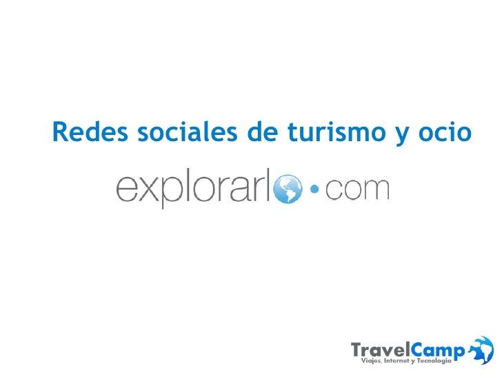 Redes sociales de turismo - Explorarlo