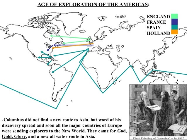 EXPLORATION OF AMERICA, EARLY