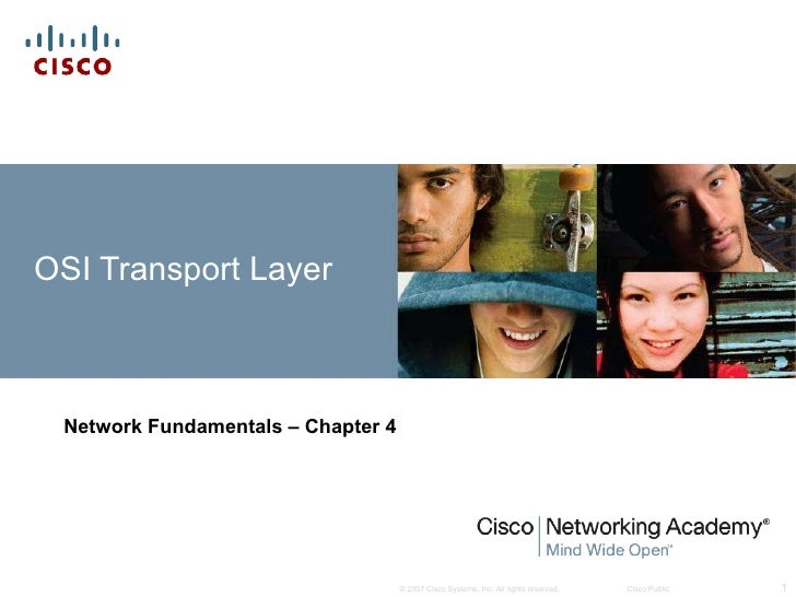 OSI Transport Layer Network Fundamentals – Chapter 4
