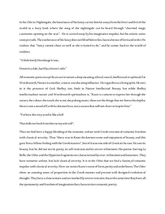 Exploration of romanticism in poetry essay