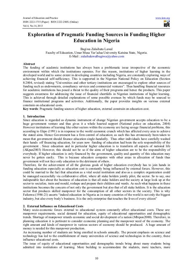 Journal of Education and Practice www.iiste.org ISSN 2222-1735 (Paper) ISSN 2222-288X (Online) Vol.4, No.14, 2013 10 Explo...