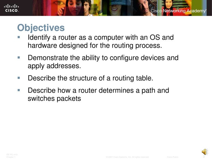 Routing Protocols and Concepts - Chapter 1 Slide 2