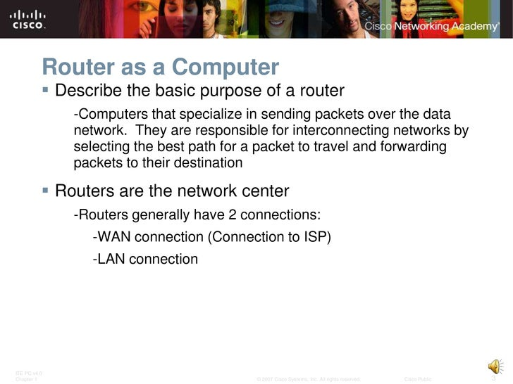 Routing Protocols and Concepts - Chapter 1 Slide 3