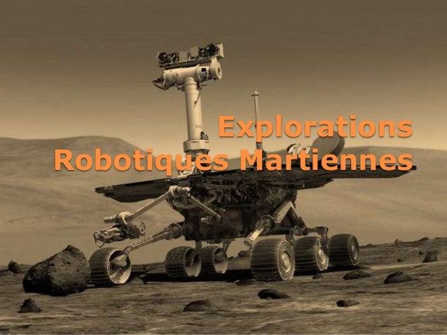 ExplorationsRobotiques Martiennes