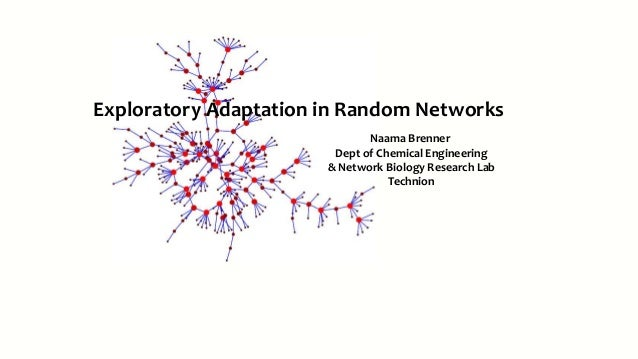 Naama Brenner Dept of Chemical Engineering & Network Biology Research Lab Technion Exploratory Adaptation in Random Networ...