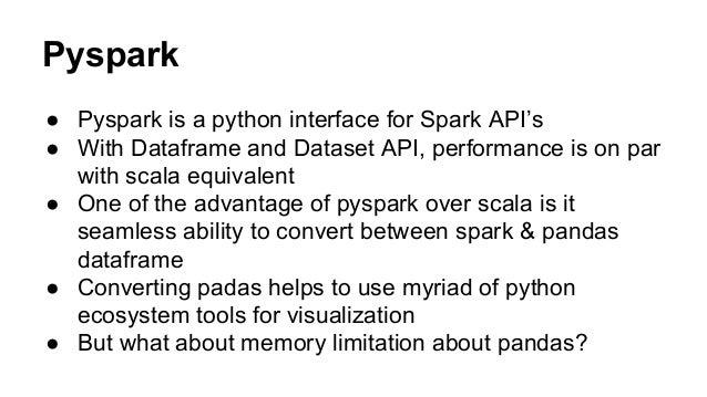 Exploratory Data Analysis in Spark