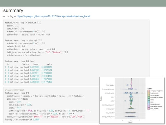 Exploratory data analysis using xgboost package in R