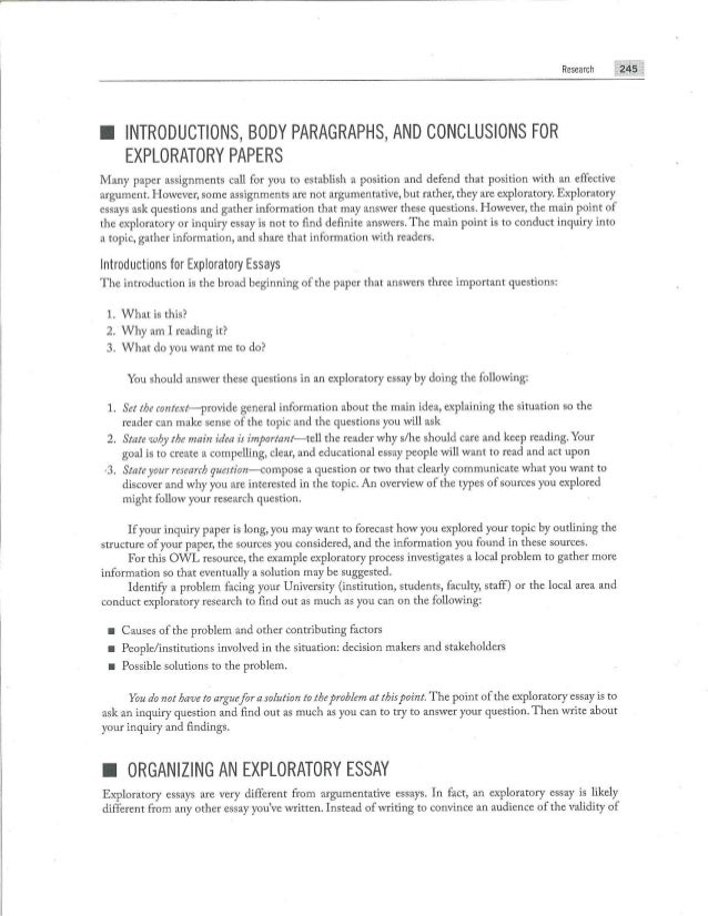 Examples Of A Thesis Statement In An Essay  Essay On Pollution In English also Argumentative Essay Thesis Exploratory Essays English Example Essay
