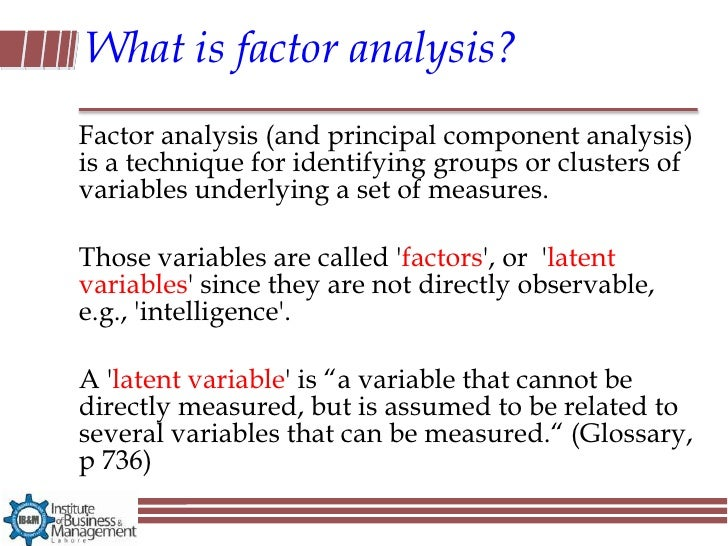 factor analysis interpretation pdf
