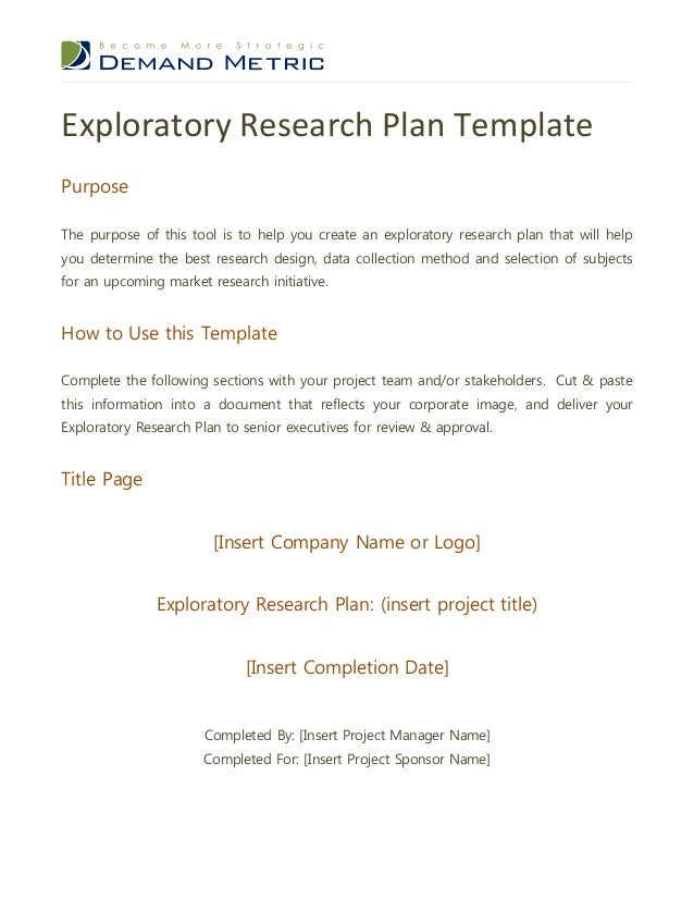 Examples of Exploratory Research