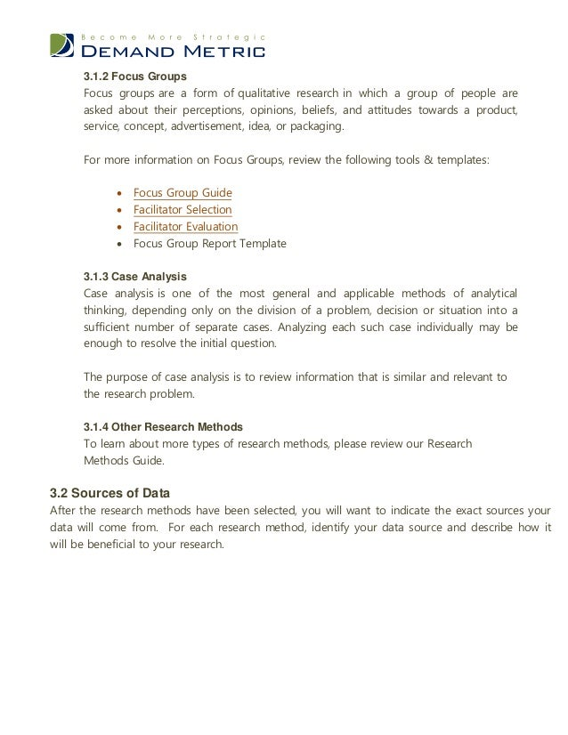 Exploratory Research Plan Template