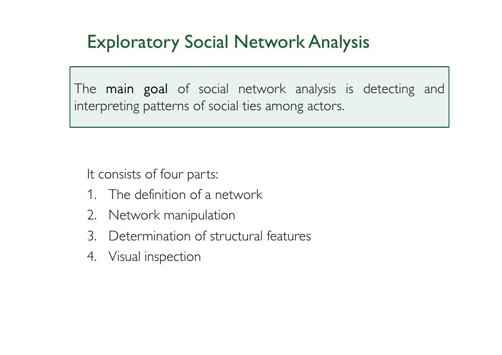 analysis of nic Social network analysis is a thriving field yielding important insights in public health most applications of this method have focused on networks of individuals.