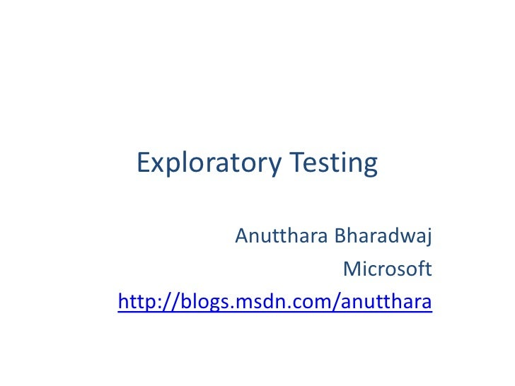 GSJGD              Exploratory Testing                       Anutthara Bharadwaj                                 Microsoft...