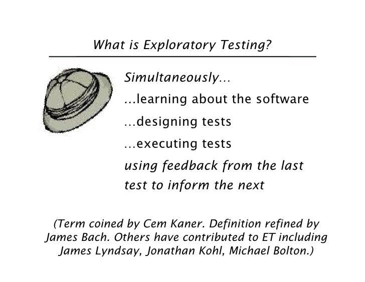 Exploratory Testing in Agile Slide 2