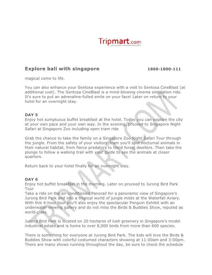 Explore Bali with Singaporewww. Tripmart.com Slide 3