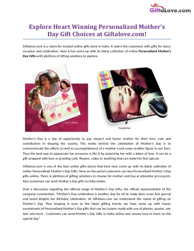 1f6d9647f Explore Heart Winning Personalized Mother s Day Gift Choices at  Giftalove.com!