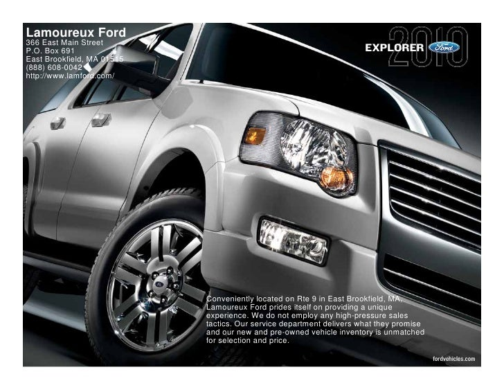 Lamoureux Ford 366 East Main Street P.O. Box 691                                                          EXPLORER East Br...