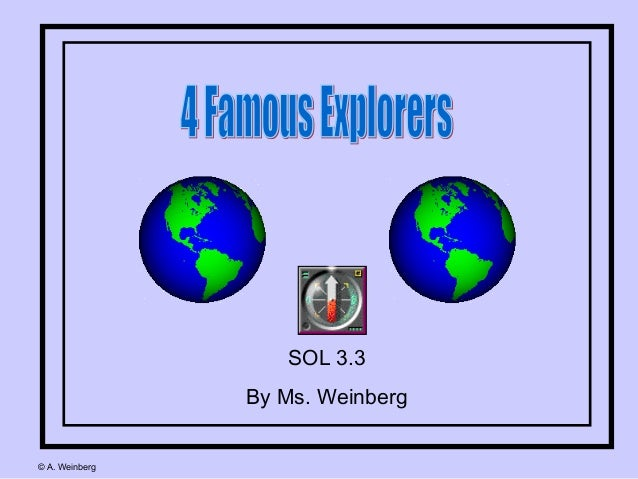 SOL 3.3 By Ms. Weinberg © A. Weinberg