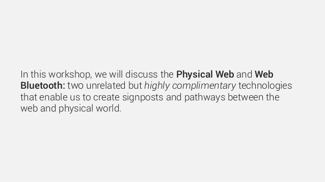 Exploring the physical web Slide 3