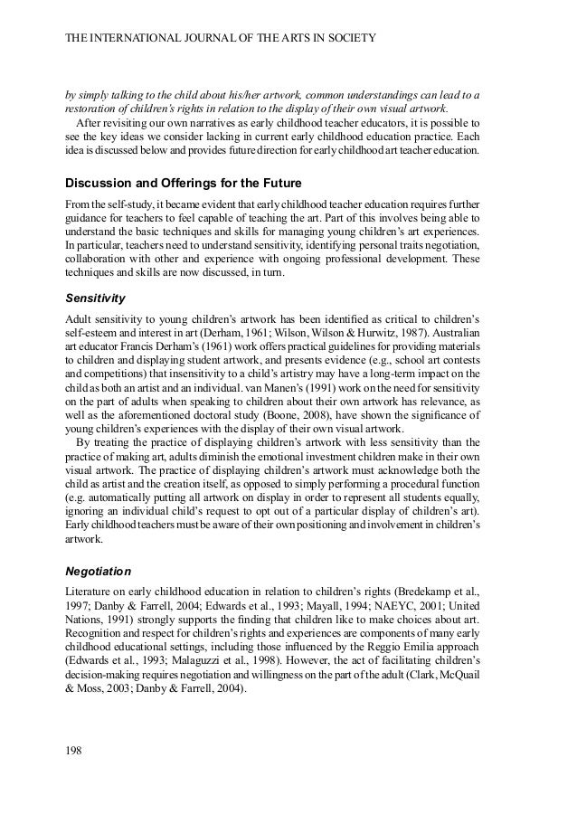 early childhood education essay cognitive foundations for early ...