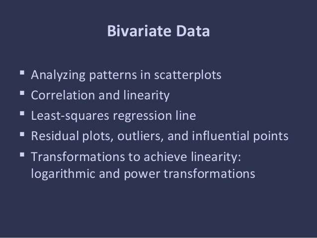 Exploring Bivariate Data