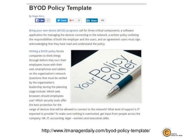 httpwwwitmanagerdailycombyod policy template 27