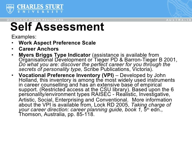 Exploring Career Devtat Csu – Career Assessment Template