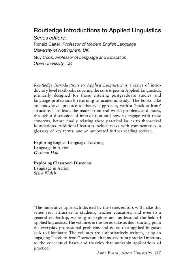 Exploring classroom discourse  Slide 3