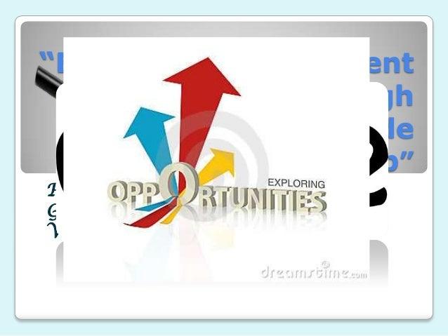 """Exploring Development Opportunities through Countryside Entrepreneurship"" Prepared by: Garcia, Jovy D. Viray, Ruffa Mae S..."