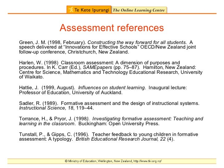 Sadler Formative Assessment And The Design Of Instructional Systems