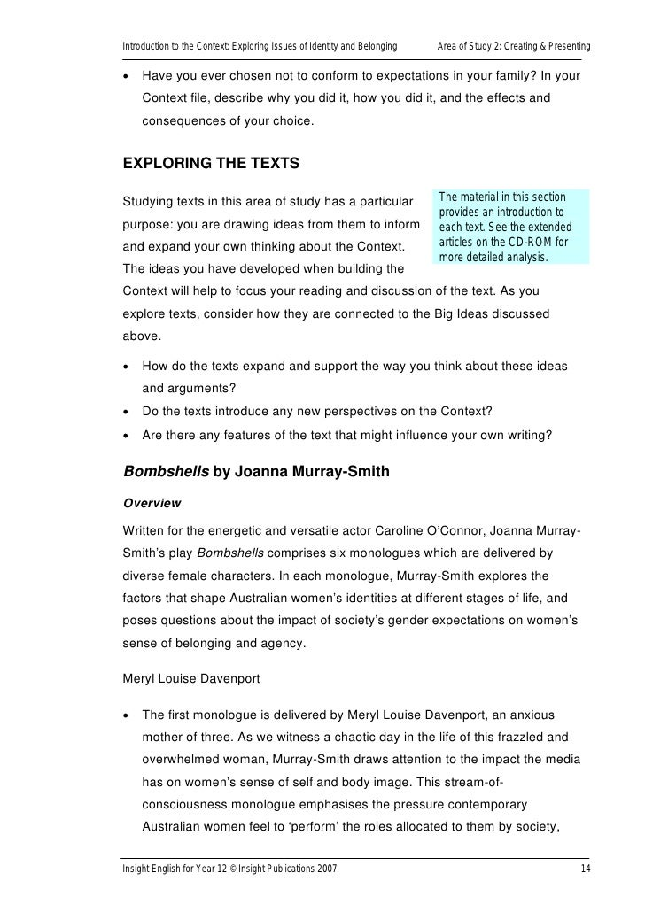 expository exploring issues of identity This section of expository writing provides the opportunity for students- as readers, viewers, writers and speakers - to engage with social and ethical issues that they care deeply about.