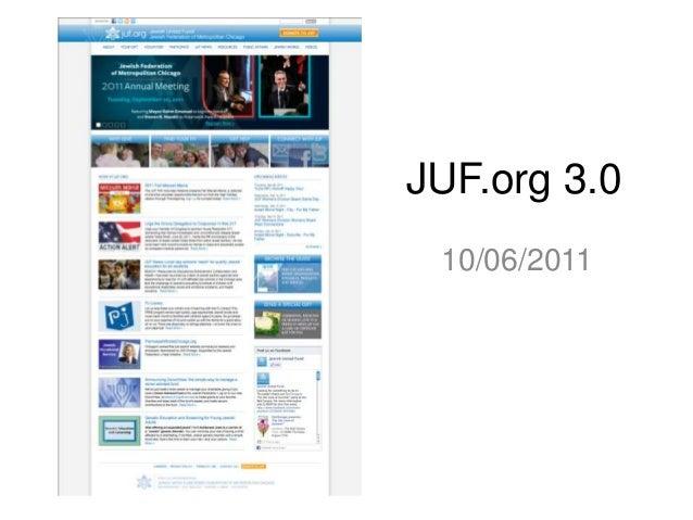 JUF.org 3.0 10/06/2011