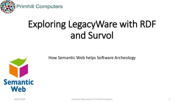 Exploring LegacyWare with RDF and Survol How Semantic Web helps Software Archeology 18/07/2018 Semantic Web London / Primh...
