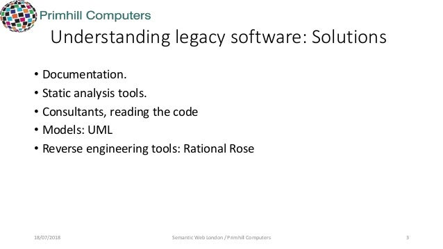 Exploring legacy ware with rdf and survol.17 july 2018 Slide 3