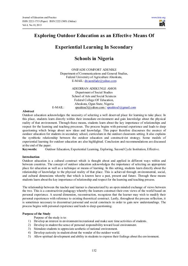Journal of Education and Practice www.iiste.orgISSN 2222-1735 (Paper) ISSN 2222-288X (Online)Vol.4, No.10, 2013152Explorin...