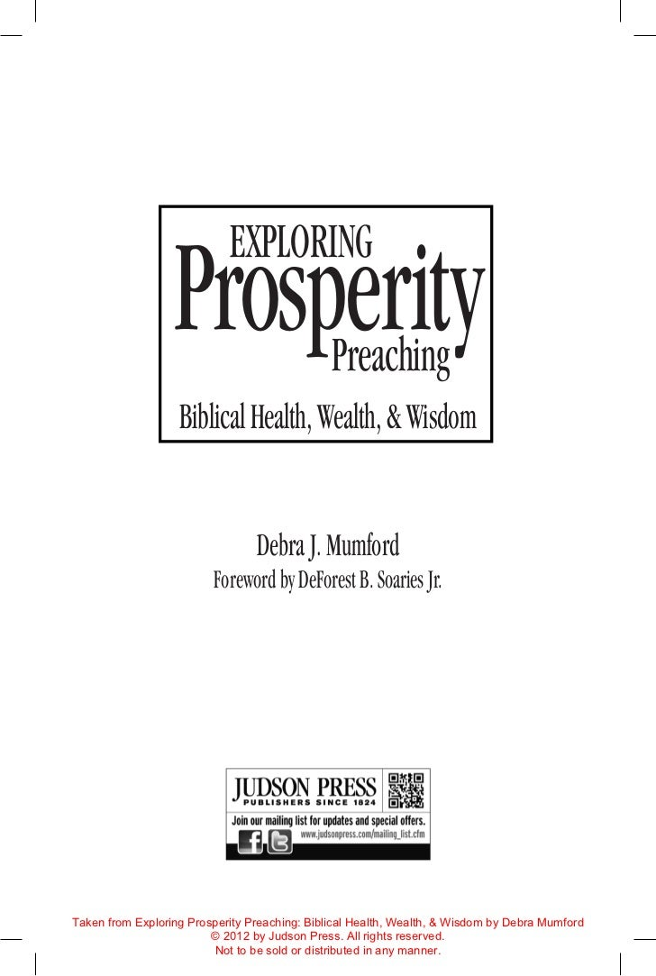 Prosperity                            Exploring                                               Preaching                   ...