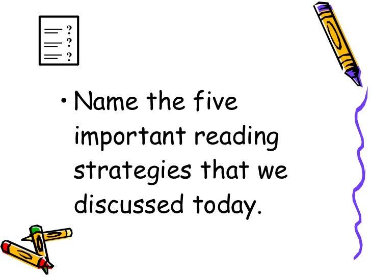 Exploring Reading Strategies